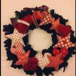 Hearts and Stars Raggy wreath